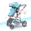 High landscape baby strollers can sit or lie down and fold up four wheel baby strollers shock absorbing aluminum alloy baby stroll