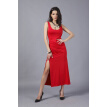 Buenos Ninos Sleeveless round collar side-split backless dress sexy red dress nightclub evening party