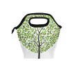 Lunch Bag Green Dot Tree  Tote Travel Picnic Insulated Handbags Portable Zipper Lunch Bag Box