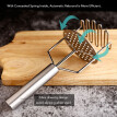 Potato Pressure Potato Masher Hand Press Crusher Mashed Potato Stainless Steel Mud Mashed Kitchen Gadgets Tools Baby Food Aid