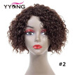 YYONG Deep Wave Natural Weave Short Wigs Brazilian Hair Wig Short Human Hair Wigs For Black Women Bob Wig