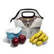Insulated Lunch Tote Bag  Paper Dog Travel Picnic Lunch Handbags Portable Zipper Lunch Bag Box