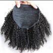 Short Afro Kinky Curly Ponytail Drawstring High Puff Clip In Hair Buns