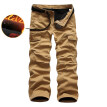AOWOLF High Quality Cotton Winter  Warm New Plus Size Men's Camouflage Pants Trousers With Suede Inside Y1005