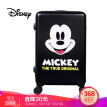 Disney trolley case universal wheel black wear-resistant anti-fall luggage 24 inch suitcase men and women boarding Mickey matte black
