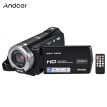 Andoer V12 1080P Full HD 16X Digital Zoom Recording Video Camera Portable Camcorder with 3.0 Inch Rotatable LCD Screen Max. 20 Meg
