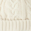 GAP flagship store baby girl baby poetry wool knit hat curling children's hat 304839 autumn and winter ivory white S / M