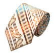 N-0298 Vogue Men Silk Tie Set Beige Paisley Necktie Handkerchief Cufflinks Set Ties For Men Formal Wedding Business wholesale