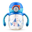 Le Bao (bobo) straw cup duckbill cup baby water bottle kettle colorful duckbill small gold cup series (190mL navy blue) more than 4 months