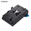 Andoer V Mount V-lock Battery Plate Adapter with 15mm Dual Hole Rod Clamp NP-FW50 Dummy Battery Adapter for BMCC BMPCC Sony A7 A7S