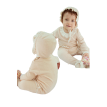 Organic cotton baby coveralls baby Siamese cotton lace three-piece even foot