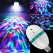 Hot Disco Stage RGB E27 LED Lights Crystal Ball Bulb 2-Head Rotating Party Lamp