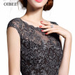 OIBEE2018 summer women's new lace slim slimming vest long dress