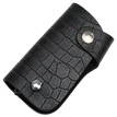 VISTULA Men's First Layer Cow Leather Key Case 12013-1610 Black