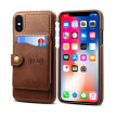New iPhoneXS Max Mobile Case Apple 8plus Cover XR Holster 6s Rear Cover Brown