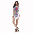 Buenos Ninos Women Set Head Skirt Mini T-shirt Classical Loose Dress Short Sleeve Printing