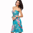 Buenos Ninos High Waist Middle-skirt Wrapped Chest Large Size Dress
