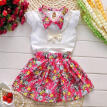 Cute Cotton Baby Kids Girls Summer Clothes Fashion Floral Dresses fit 2-7Years