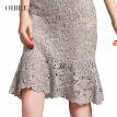 2018 autumn new women's fashion temperament lace elegant slim slimming five-point sleeves long dress