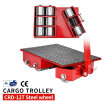 Industrial cargo trolley Heavy Duty Machine 12T 26400lb Machinery Roller Mover 4 Roller Dolly Skate Factory Stock  CRD-12T-SW