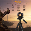 Andoer TTT-666R Camera Tripod Monopod Travel Portable Lightweight Tripod for Canon Nikon DV DSLR Camcorder with Carry Bag Max.Load