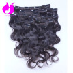 Amethyst Fashion Body Wave Clip In Hair Extensions 120g Per Piece 8A Virgin Peruvian Human Hair Clip In Extensions