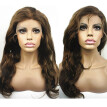 N.L.W. European virgin human hair Lace front wigs #4/27 Highlight color Natural wave Glueless wigs