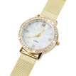 Women's Crystal Round Quartz Stainless Steel Mesh Band Wrist Watch Gift