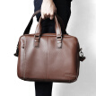 Haotton (HAUT TON) shoulder bag youth first layer of leather brief briefcase men handbag tide brand square DB354 brown