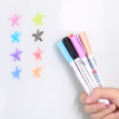 (Deli) S504 8-color single-head mini-color white pen pen set easy to scratch without leaving marks