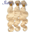613 Blonde Virgin Hair With Closure Human Hair Boday Wave Platinum 3pcs Blonde Virgin Hair Bundles With Lace Closure on sale