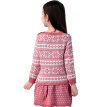 Xin Song girl pink fashion snowflake long-sleeved sweater dress autumn and winter England design warm hedge knit dress C306A110