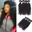 Amazing Star Deep Wave 4 Bundles Peruvian Virgin Human Hair Bundles Deep Wave Hair Curly Weave Double Weft Natural Color