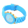 Unisex Silicone Crystal Lady Jelly Gel Quartz Analog Sports Wristwatch