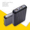 Portable Charger 12000mAh Power Bank USB Battery Pack 2.0 USB Ports Li-polymer Battery External Battery For Smartphone Black