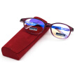 Sunset red anti-blue reading glasses men and women universal young fashion high-definition coated resin lens JX6018 100 degrees