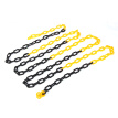 Interesting plastic black and yellow chain 3 m reflective warning column isolation link barrier road safety protection chain
