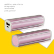 Portable Charger 2600mAh Power Bank USB Battery Pack 2.0 USB Ports Li-polymer Battery External Battery For Smartphones Pink