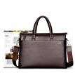 Golf GOLF fine first layer of leather men's bag business briefcase large-capacity men's handbag package package T599102 brown