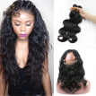 Peruvian Virgin Hair With 360 Lace Band Peruvian Body Wave Hair 2 Bundles With 1 Piece 360 Lace Frontal Closure With Baby Hair