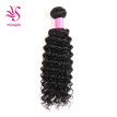 Remy Virgin Brazilian Deep Wave Human Hair Extensions Pack of 3 Unprocessed Deep Wave Weave Natural Color Mixed Length