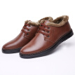 Men's winter plus thick velvet warm and comfortable leather shoes