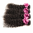 Malaysian virgin curly hair jerry curl 3 bundles malaysian curly human hair weave bundles virgin malaysian curly hair extensions