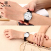 Comtex Brand Fashion Couple Watches Leather Quartz Wristwatches Men Watch Women Watch