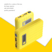 Portable Charger 12000mAh Power Bank USB Battery Pack 2.0 USB Ports Li-polymer Battery External Battery For Smartphones Yellow