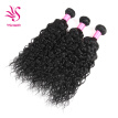 Brazilian Natural Water Wave Virgin Hair Weave 3 Bundles 100% Unprocessed Human Hair Extensions Natural Color 95-100g/pc