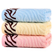 Bamboo Kam Towel Home Textiles Bamboo Fiber Wavy Jacquard Satin Striped Water Towel 3 Pack Blue / Pink / Yellow 105g / Article 34