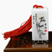 chinese traditional seal stamp made of jade stone with silk bag free lettering free inkpad ideal gift