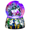 Memories Garden Christmas Tree Gifts Creative Gifts Toys Boxes Boxes LED Snowballs Turn Snow Snow Snow House Crystal Ball Music Box Y8066BSL Sky City