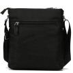 St. Paul's men's bag shoulder bag new men's casual shoulder Messenger bag large capacity vertical section male bag black